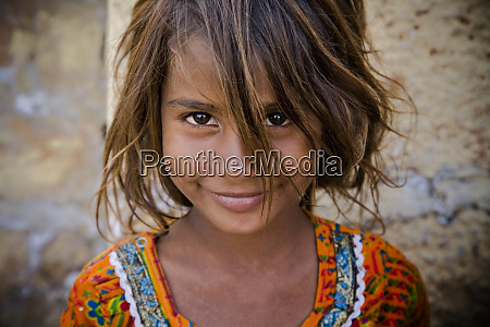india rajasthan portrait of village girl