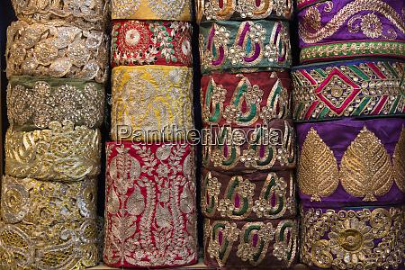 asia new delhi color brocade materials