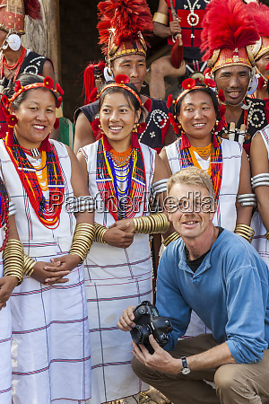 naga tribe with photographer nagaland north
