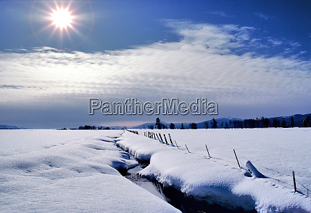 usa oregon klamath co the winter