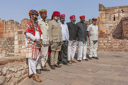 men with moustache and turban lineup