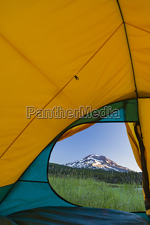 view through tent south sister elevation