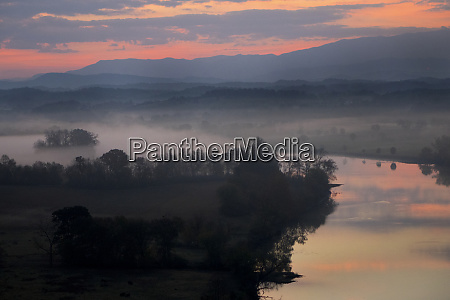 sunrise view of the french broad