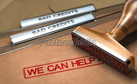 bad credit debt solutions concept