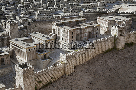 outdoor model of jerusalem from 2nd