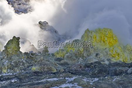 mt lozan and sulfurous steam vents