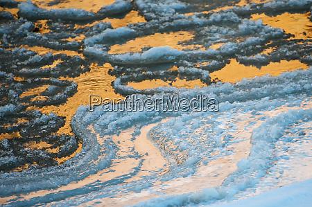 usa utah colorado river ice patterns