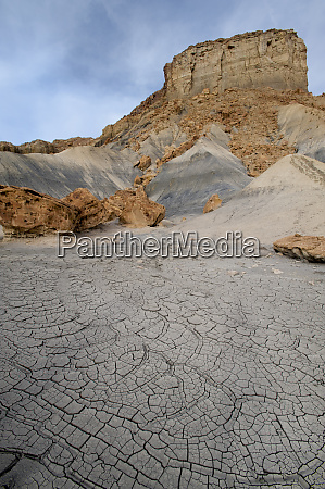 usa utah abstract mud patterns with