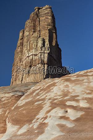 usa utah rock formations near last