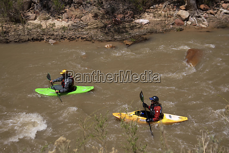 usa utah zion np kayakers