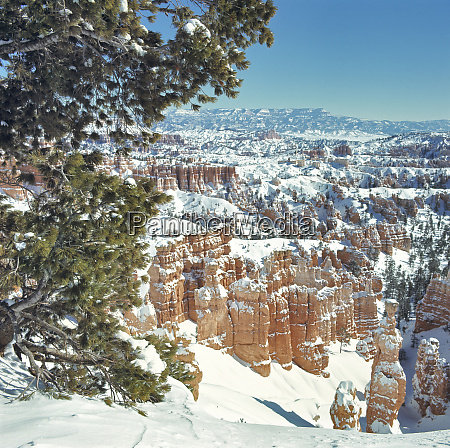 usa utah bryce canyon np snow
