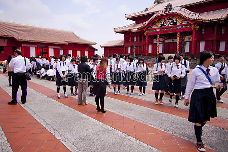 the recently reconstructed shuri castle naha