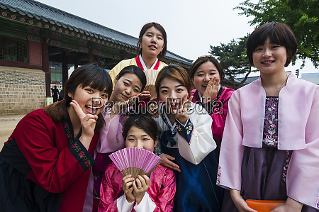 group of young women in the