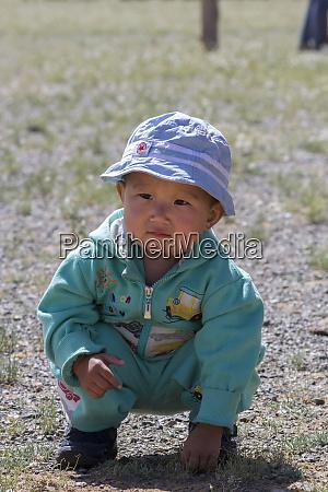 portrait of kid gobi desert mongolia
