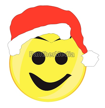father christmas smile face button isolated