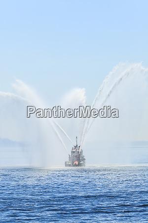 seattle fire boat views aboard uss