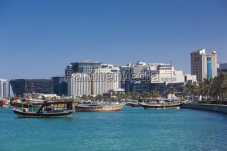 qatar doha dhows on doha bay