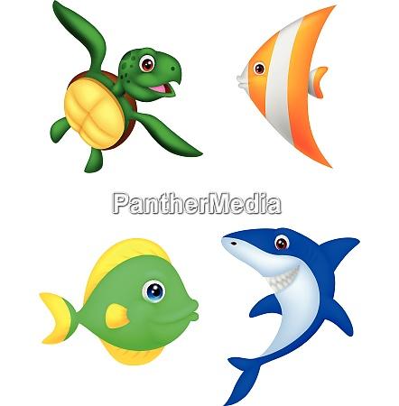 cute cartoon sea animals