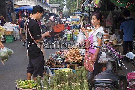 thailand chiang mai street market shopper