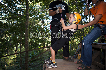 zip lining is one of the