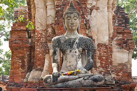 seated buddha statue at the temple