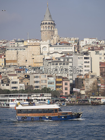 passenger ship on river at istanbul