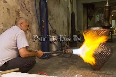 turkey gaziantep craftsman welder firing and