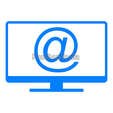 e mail symbol and screen