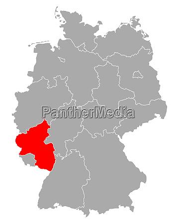 map of rhineland palatinate in germany