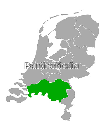 map of north brabant in netherlands