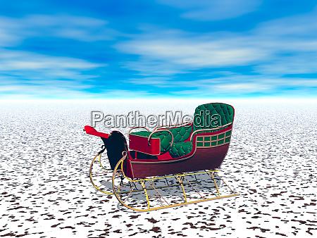 santas sleigh in the far north