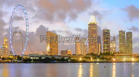 singapore flyer hotels skyscrapers skyline