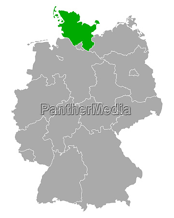 map of schleswig holstein in germany