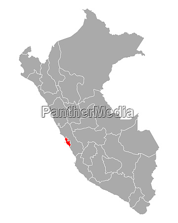 map of lima metropolitana in peru