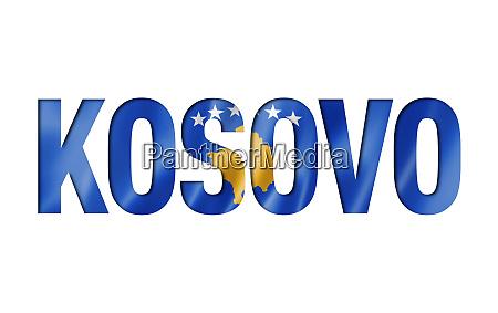kosovo flag text font