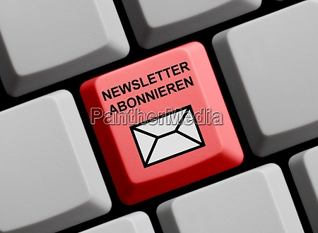 subscribe newsletter in german language on