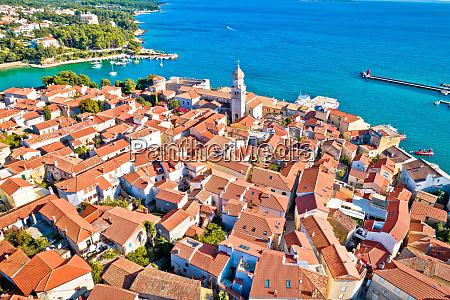 idyllic adriatic island town of krk
