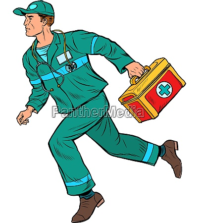 an ambulance doctor male medic with