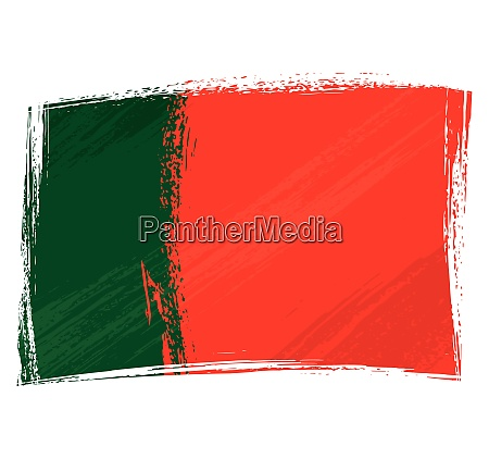 grunge painted portugal flag