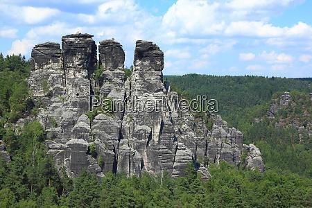 sandstone rock formation at bastei germany