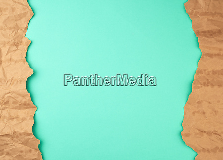 abstract green background with brown torn
