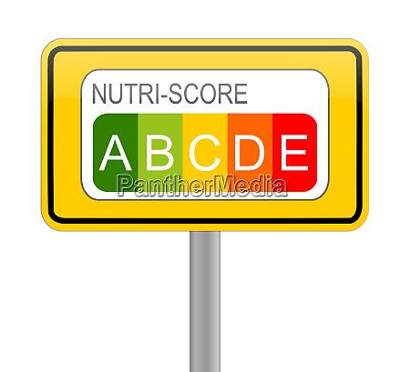 nutri score label 5 colour nutrition