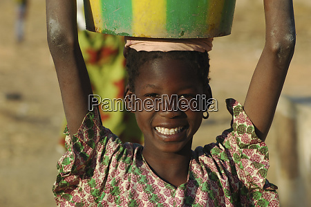 mali dogon country portrait of a