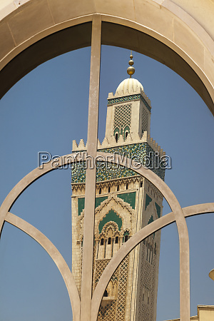 africa morocco casablanca the minaret of