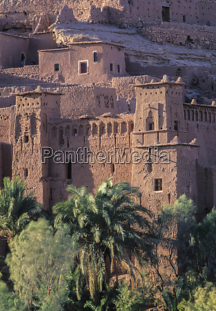 africa morocco ait benhaddouksour fortified village