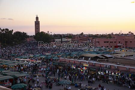 marrakech morocco jemaa el fna at