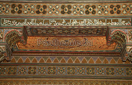 north africa morocco marrakesh painted cedar
