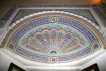 north africa morocco marrakesh carved and
