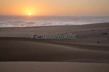 africa namibia namib desert swakopmund sunset