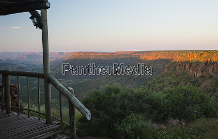 africa namibia guest lodge overlooks valley